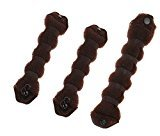Set of 3 Magic Hair Styling Styler Hot Hair Donut Bun Ring Styler Maker (1 large+2 small) (1 large+2 small) (Brown)