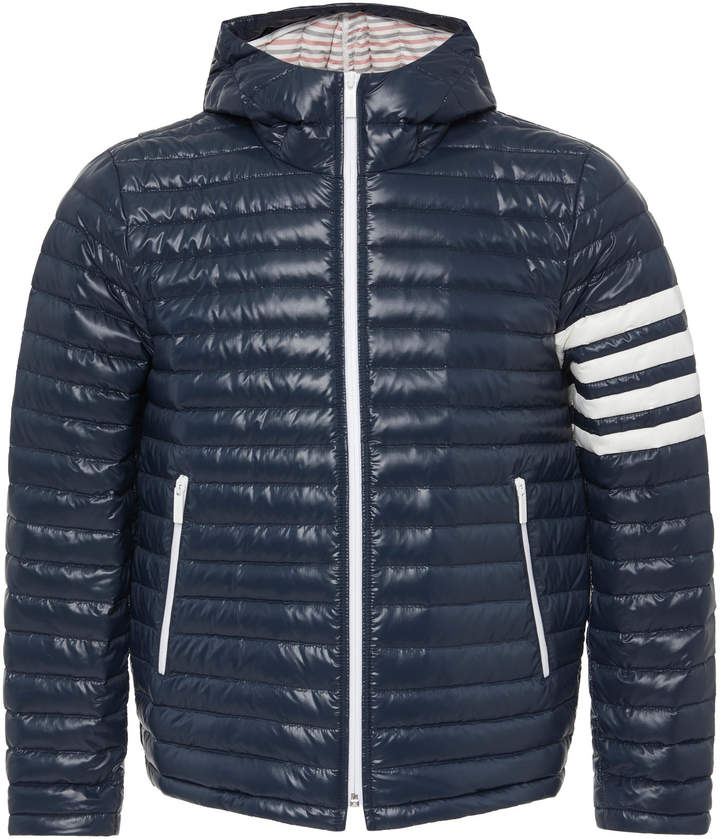 Thom Browne Striped Quilted Shell Hooded Down Jacket