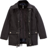 Urban Republic Charcoal Layered Military Jacket - Toddler & Boys