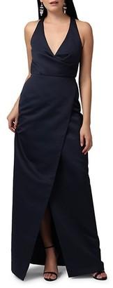 Jay Godfrey Kingston V-Neck Wrap Gown