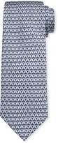 Salvatore Ferragamo Men's Image 1 Silk Tie w/ Shirt & Tie Motif