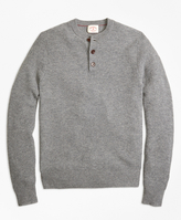 Brooks Brothers Cashmere Waffle Henley Sweater