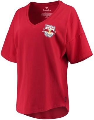 Women's Fanatics Branded Red New York Red Bulls Spirit Jersey V-Neck T-Shirt
