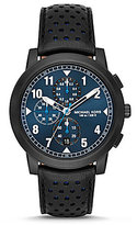 Michael Kors Paxton Chronograph Leather-Strap Watch