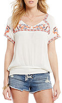 O'Neill Sofia Embroidered Tie-Back Top