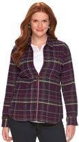 Chaps Plus Size Full-Zip Plaid Flannel Shirt