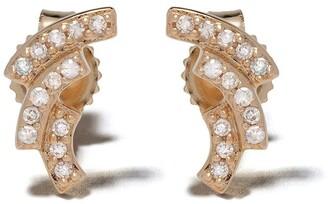 Astley Clarke 14kt yellow gold Icon Scala diamond stud earrings