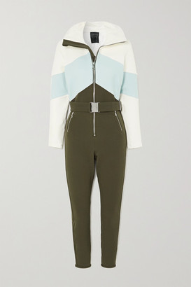 Cordova Alta Belted Color-block Ski Suit - Dark green