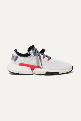 adidas Pod-s3.1 Rubber-trimmed Stretch-knit Sneakers - White