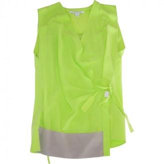 Diane von Furstenberg Green Silk Top for Women