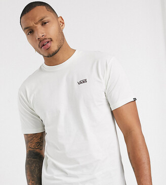 Vans left chest logo t-shirt in cream Exclusive at ASOS-White