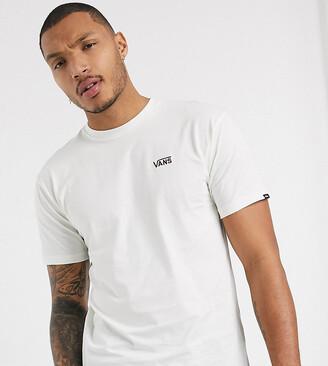 Vans left chest logo t-shirt in cream Exclusive at ASOS