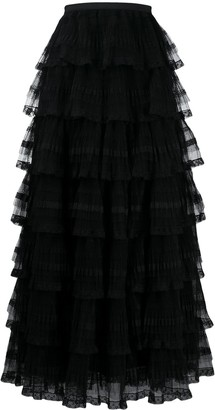 RED Valentino Tulle Tiered Skirt