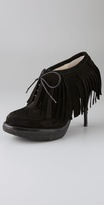 Vanda Suede Fringe Booties with Crepe Sole