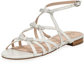 Adrianna Papell Lane Bow Flat Sandal, Silver