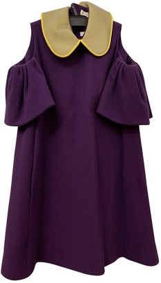 DELPOZO Purple Wool Dress for Women