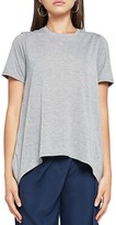 BCBGeneration Striped Arched-Hem Tee