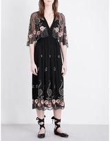 Topshop Cape-detail embellished dress
