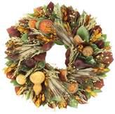 Floral Treasure Harvest Gourd Wreath