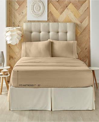 J Queen New York Royal Fit 300 Tc Cotton-blend King Sheet Set Bedding