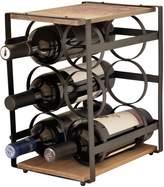 La vie Parisienne Metal and Wood Wine Rack
