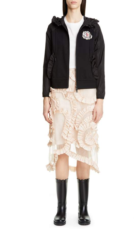 Simone Rocha Moncler Genius by Moncler x 4 Ruffle Trim Tulle Skirt