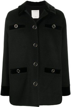 Sandro Tayla single-breasted wool blend coat