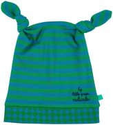 Little Green Radicals Twin Knotted Hat (Baby) - Green-6-9 Months