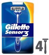 Gillette Sensor3 Sensitive Disposable Razors 4 Count