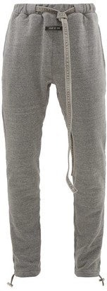 Fear Of God Denim-drawcord Cotton-blend Track Pants - Mens - Grey