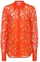 Stella McCartney Lace cotton-blend shirt