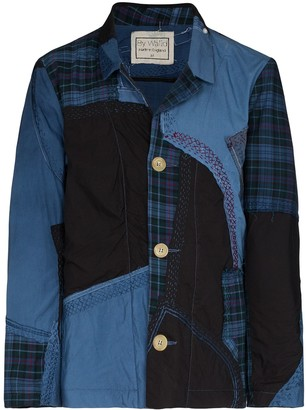 By Walid Harry patchwork shirt jacket