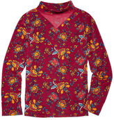 INSTA GIRL Insta Girl Gigi Neck Printed Long Sleeve - Girls' 7-16