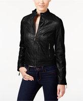 Joujou Jou Jou Juniors' Zipper-Front Faux-Leather Jacket