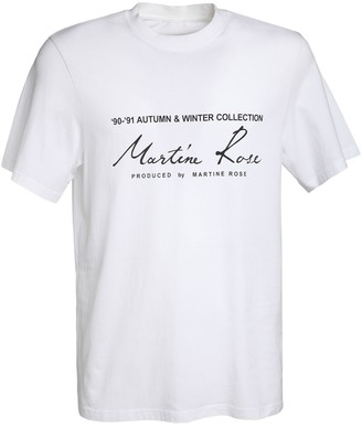 Martine Rose Season Logo Print Cotton Jersey T-Shirt
