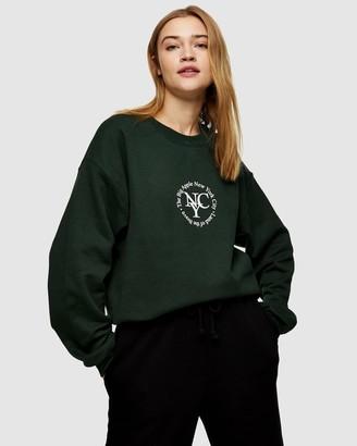 Topshop Sport Circle Print Sweatshirt