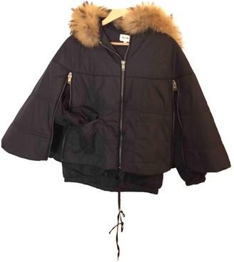 Bel Air Black Leather Jacket for Women