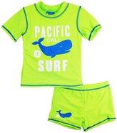 Number One Baby Boys Whale Pacific Surf Rashguard Swim Short Set