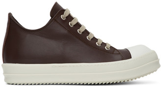 Rick Owens Brown Low Sneakers