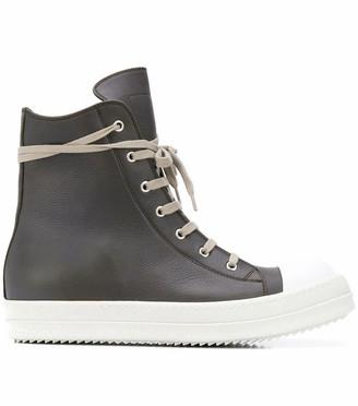 Rick Owens Grey Performa High Top Sneakers