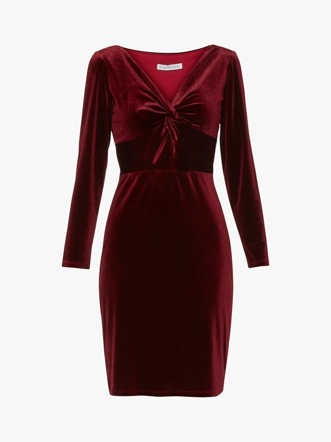 Thumbnail for your product : Gina Bacconi Spencer Knot Mini Dress