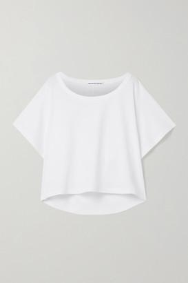 Alexander Wang Cut-out Cotton-jersey T-shirt - White