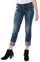 Dex Distressed Rolled Hem Jeans