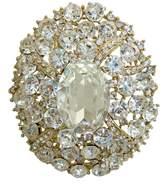 T&T Jewelry TTjewelry Gorgeous Oval Art Nouveau Luxury Brooch Austrian Crystal