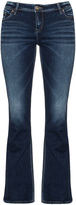Silver Jeans Plus Size Flared Tuesday washed jeans