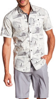 Burnside Short Sleeve Print Regular Fit Woven Shirt