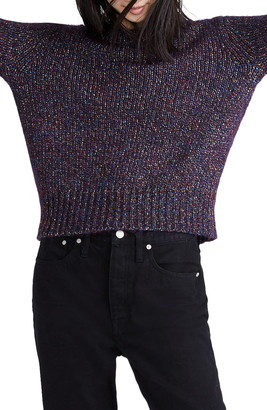 Madewell Sparkle Crew Neck Pullover