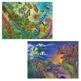 Melissa & Doug ; Jigsaw Puzzles Set - Bugs and Dinosaurs (60pc)
