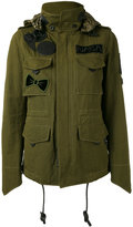 Coach M65 jacket - women - Polyester/Cotton/Leather/Viscose - 4