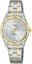 Pulsar Ladies Easy Style Collection Two Tone with Silver Dial PH8256
